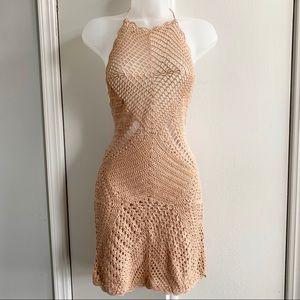 NWT Boho Crochet Halter Swim Coverup